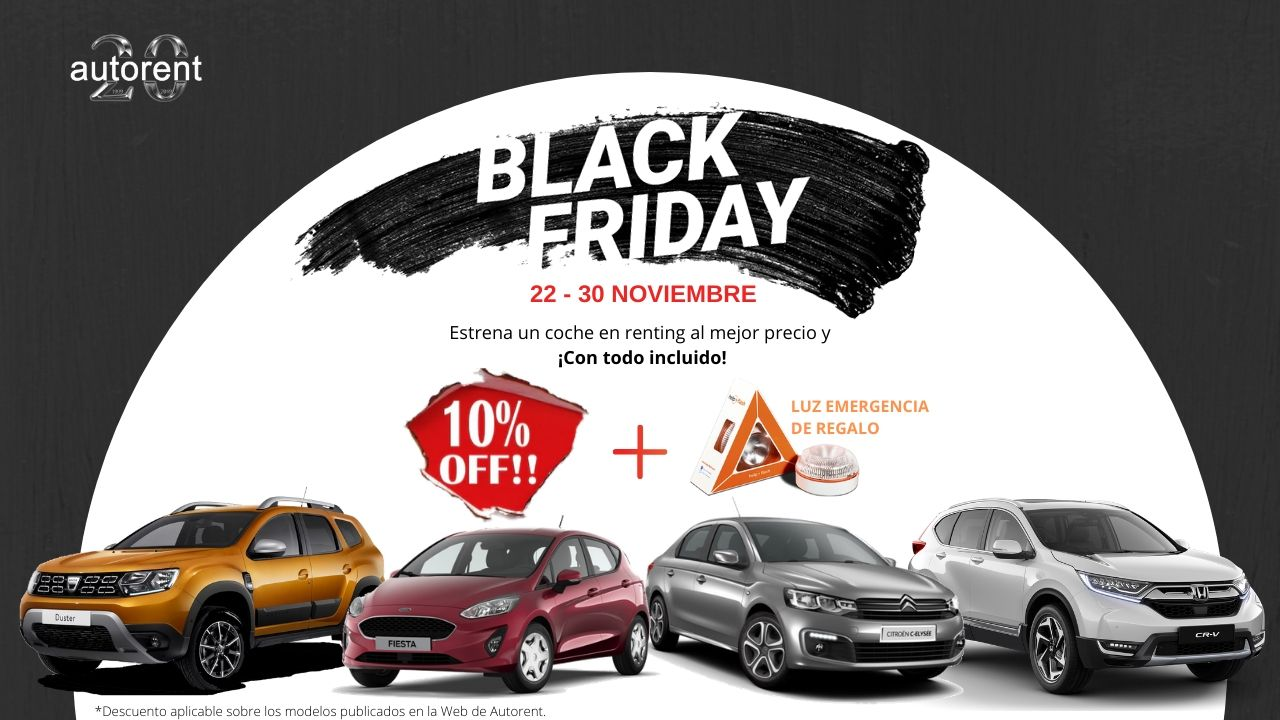 Black Friday de Autorent 2019